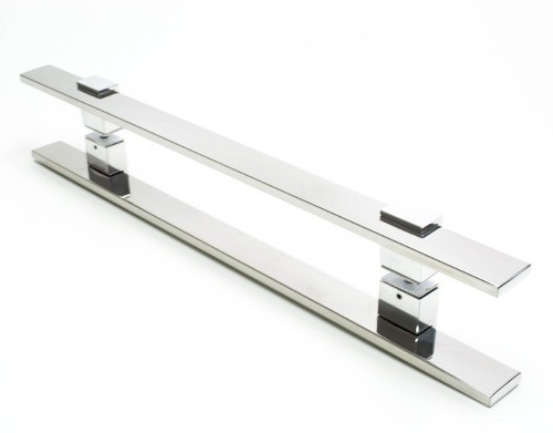 - Kit Puxadores Aço Inox Polido Modelo Luma  - Loja do Puxador