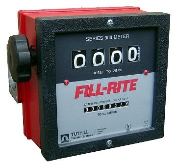 Medidor Mecânico Para Gasolina, Diesel, Querosene E Solventes Minerais, Vazão 23 A 150 L/Min, 4 Dígitos - Fill Rite FR901 - 1002272