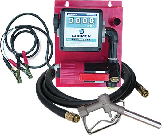 Kit De Abastecimento Para Óleo Diesel, 12V, Com Medidor De 4 Dígitos, 4M De Mangueira E Bico, Vazão 60 L/Min - 1003925