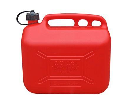 Galão Para Gasolina E Combustíveis Em Geral, Em Polietileno, Com Extensão E Tampa, 10 Litros - 6002139