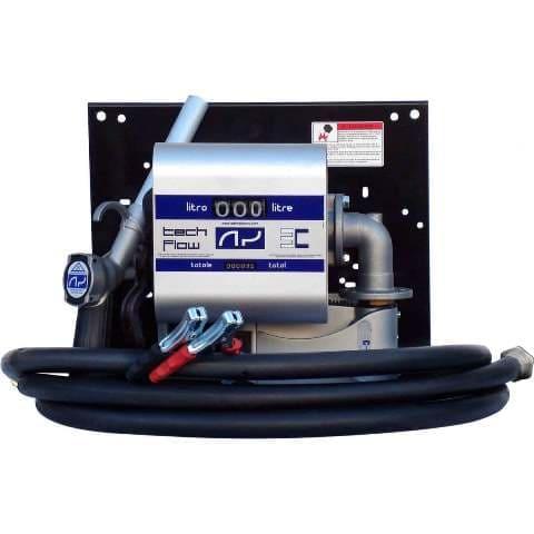 Kit De Abastecimento Para Óleo Diesel, 12V, Com Medidor, 4M De Mangueira E Bico, Vazão 40 L/Min - Adam Pumps 1008338