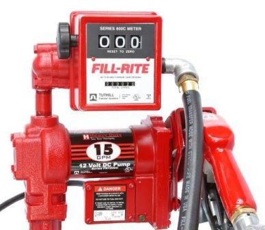 Kit De Abastecimento Para Gasolina, Óleo Diesel E Querosene, 12V, Bico Manual, Medidor, 5 M De Mangueira, Vazão 76 L/Min - Fill Rite FR 4205 - 1009999