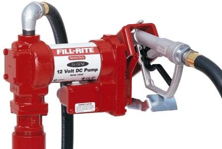 Kit De Abastecimento Para Gasolina, Óleo Diesel E Querosene, 12V, Anti Explosão, Bico E 4M De Mangueira, Vazão 57 L/Min - Fill Rite FR1210C - 1001758