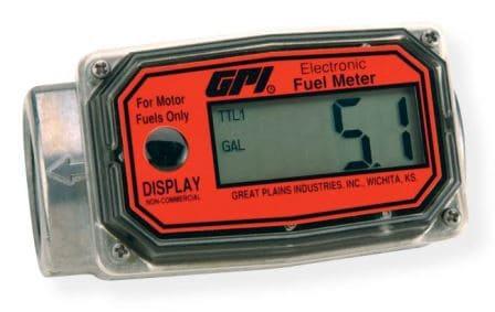 Medidor Digital Para Óleo Diesel, Gasolina, Querosene, Etanol e Metanol, 4 Dígitos, Vazão 10 A 100 L/Min - GPI 01A12Lm - 1002197