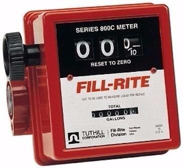 Medidor Mecânico Para Etanol, Óleo Diesel, Gasolina, Querosene E Solventes Minerais, Com Filtro, Vazão 19 A 76 L/Min - Fill Rite FR807 Niquelado - 3002227