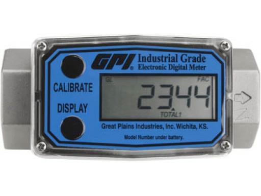 Medidor Digital Para Arla 32, Diesel, Gasolina, Querosene E Etanol, Vazão 38 A 380 L/Min - GPI 2193