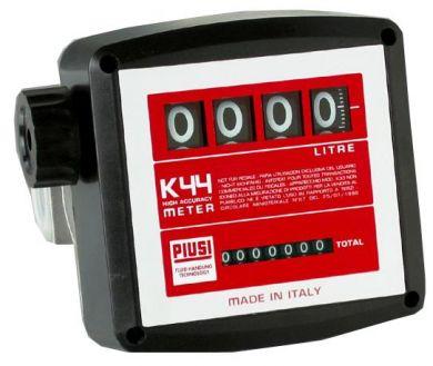 Medidor Mecânico Para Óleo Diesel, Óleo Vegetal, Biodiesel E Querosene, 4 Dígitos, Vazão De 20/120 L/Min - Piusi K44 - 1003179