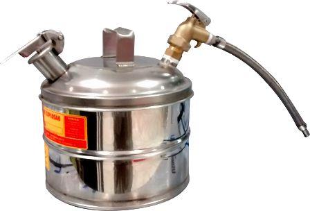 Reservatório de Segurança Anti Explosão, Para Combustíveis e Líquidos Inflamáveis, Em Inox, Com Biqueira Flexível, 5 Litros - 3006613
