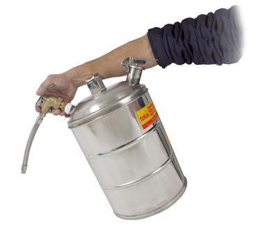 Reservatório de Segurança Anti Explosão, Para Combustíveis e Líquidos Inflamáveis, Em Inox, Com Biqueira Flexível, 10 Litros - 3006610  - PetroLíder