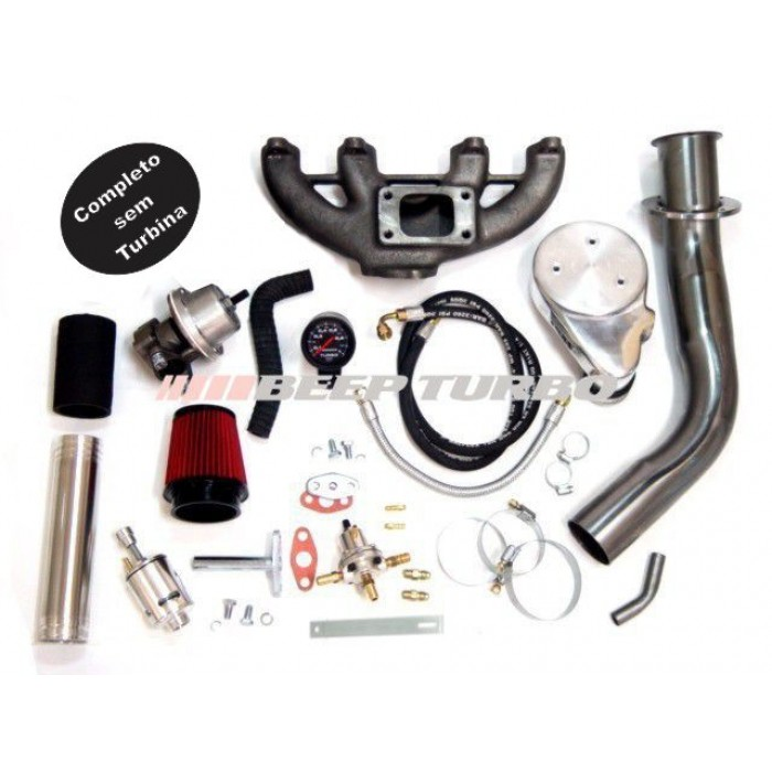 Kit Turbo Vw - AP Carburado - 1.6 / 1.8 / 2.0 sem Turbina