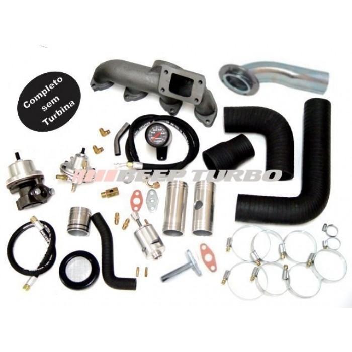 Kit turbo GM - Omega 2.2 / S10 2.4 (Injeção MPFI) sem Turbina