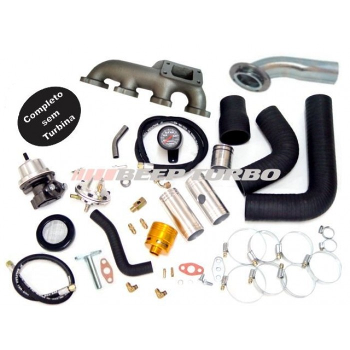 Kit turbo GM - S10- Blazer 2.0 / 2.2 ( Injeção EFI ) sem Turbina