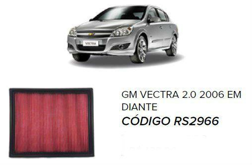 Filtro De Ar Esportivo In Box Gm Astra/ Vectra + Brinde