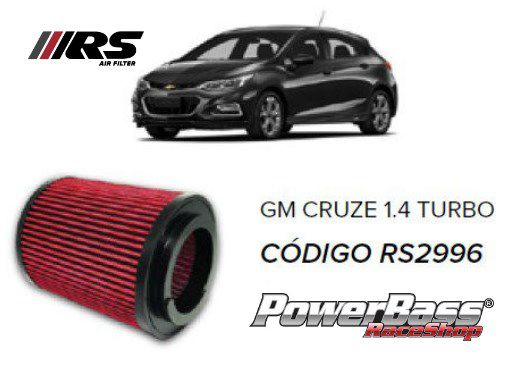 Filtro De Ar Esportivo In Box Gm Cruze 1.4 Turbo + Brinde