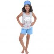 Baby Doll Regata Short Chuva De Amor Infantil Tapa Olho 449