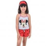 Baby Doll Short Doll Alça Feminino Infantil Menina C/ Tapa Olho Minnie Ref: 318