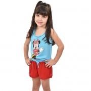 Baby Doll Short Doll Regata Família Infantil Feminino Menina Minnie Ref: 329