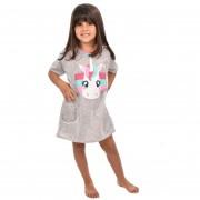 Camisola Camisão Meia Manga Infantil Feminino Unicórnio Mãe e Filha 366