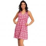 Camisola Regata Com Botão Liganete Estampada Feminino Adulto Ref: 1046