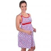 Kit 2 Camisolas Estampas Sortidas Amamentação Lactante Pós Parto Malha Estampada Adulto Ref: 5007