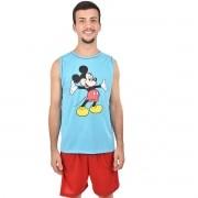 Pijama Regata Short Masculino Adulto Confortável Malha Pai Mickey Ref: 326