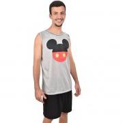 Pijama Regata Short  Mickey Masculino Adulto Pai e Filho 394