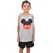 Pijama Regata Short Mickey Masculino Infantil Menino 395