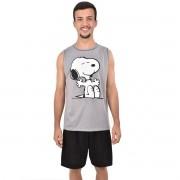 Pijama Regata Short Snoopy Masculino Adulto Pai e Filho 326