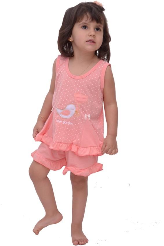 Baby Doll Short Camiseta Babadinho Poá Infantil Menina Verão Várias Cores Ref: 301