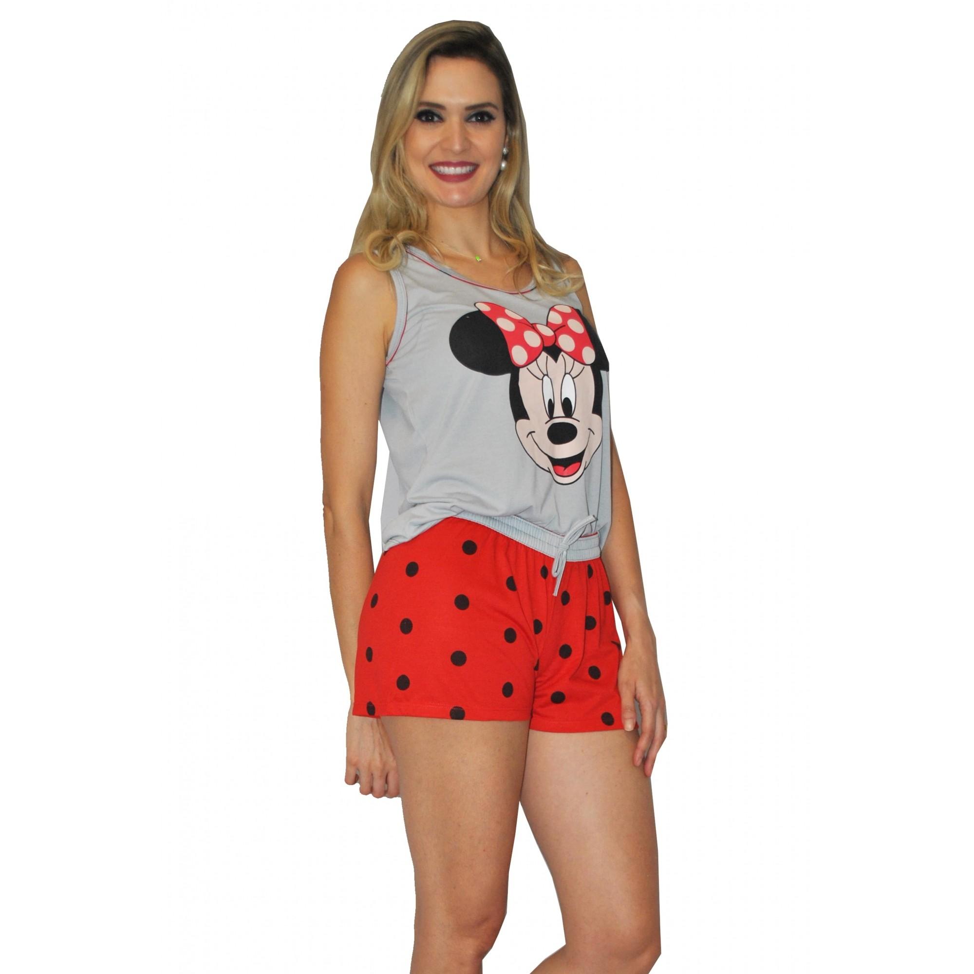 Baby Doll Short Camiseta Feminino Adulto Verão Malha Confortável Ref: 295
