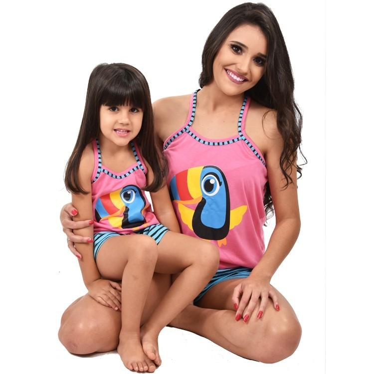 Baby Doll Short Doll Camiseta Alça Adulto Feminino Tucano C/ Tapa Olho Ref: 296