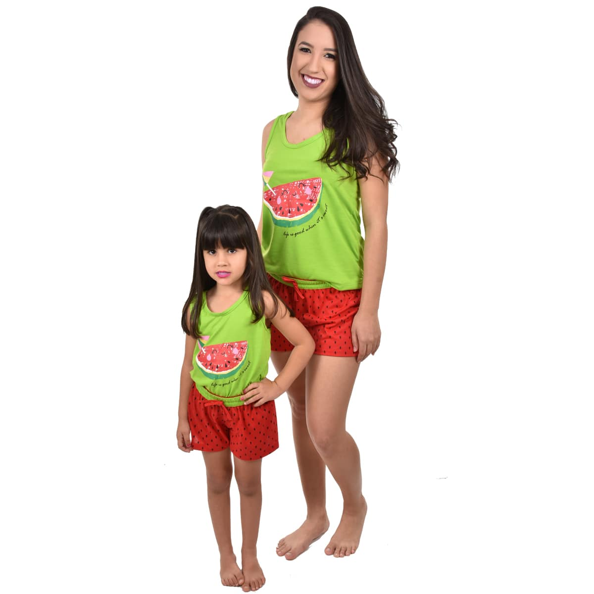 Baby Doll Short Doll Camiseta Regata Melancia Adulto Ref: 320
