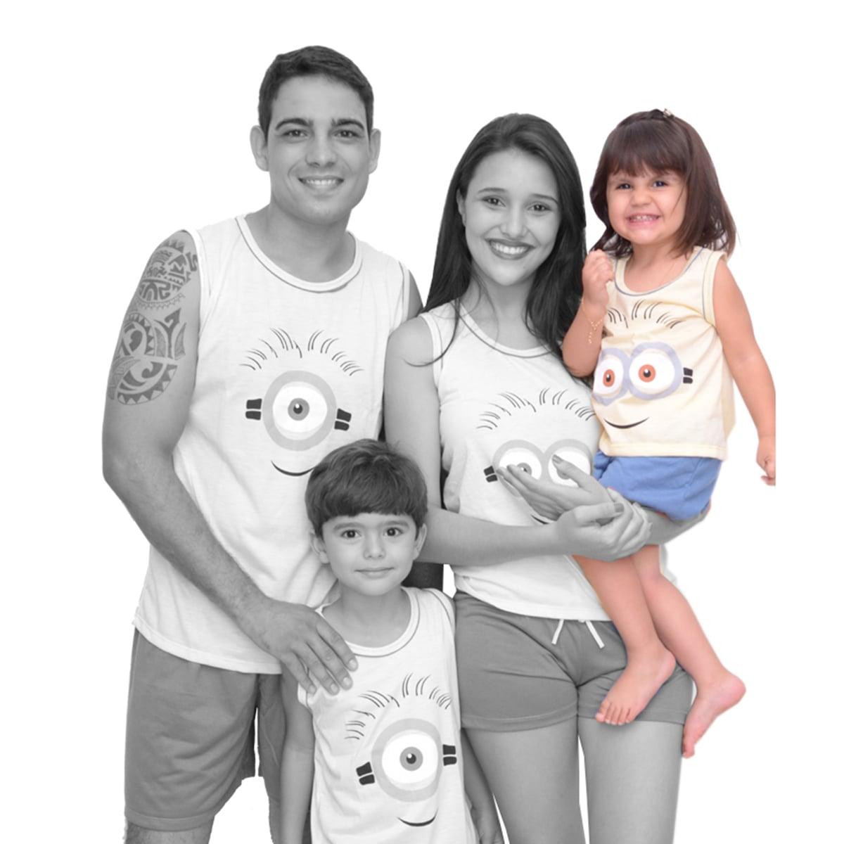 Baby Doll Short Doll Regata Família Infantil Feminino Menina Minions Ref: 329