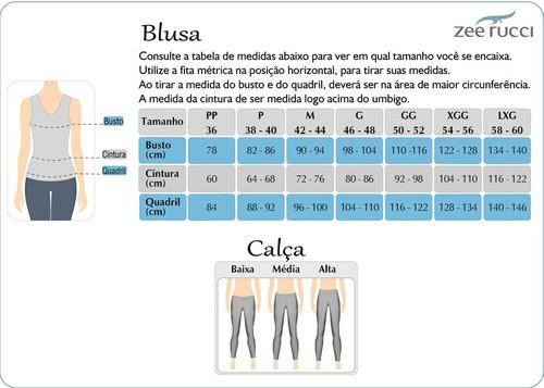Calça Legging Corsário Fitness Sem Costura Treino Exercicio Zee Rucci ZR0600-001