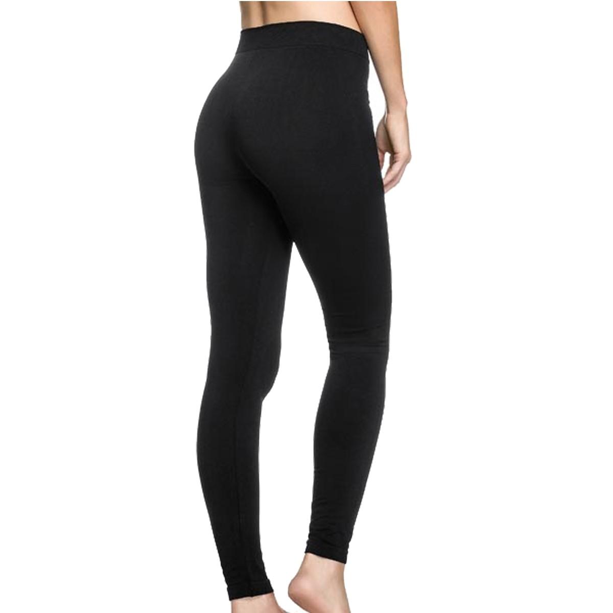 Calça Legging Fashion Preta Lisa Sem Costura Zee Rucci ZR2800-001