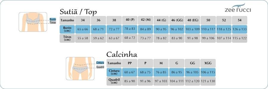 Calcinha Tanga Algodão Básica Conforto Confortável ZR0201-007