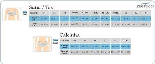 Calcinha Tanga Modeladora Cinta Microfibra Sem Costura Alta Zee Rucci ZR0801-002