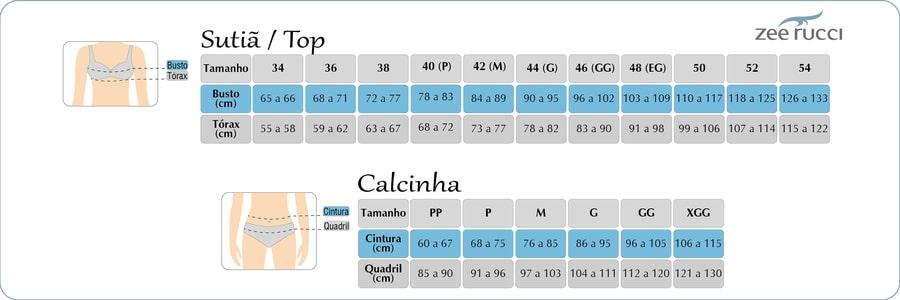 Kit 2 Calcinhas Tanga Corte a Laser Sem Elástico Não Marca Na Roupa ZR0201-027