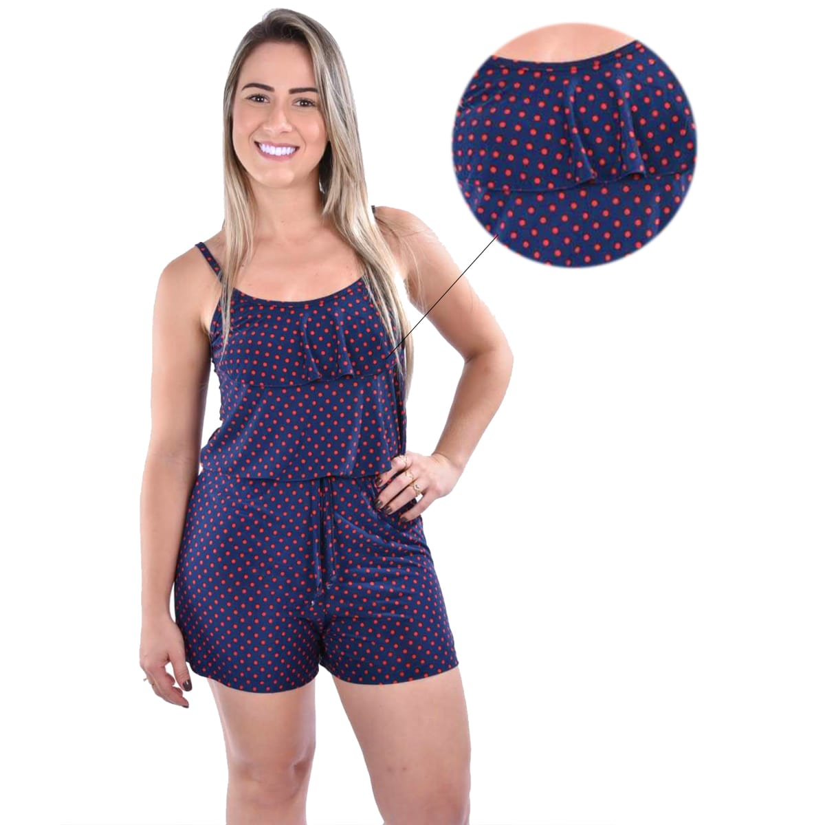 Macaquinho Pijama Liganete Adulto Feminino Ref: 2007