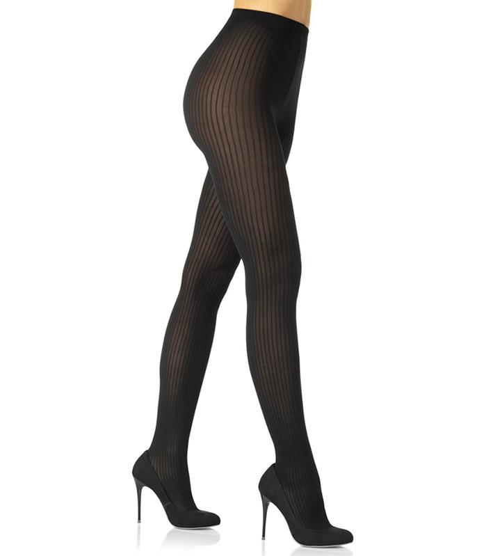Meia Calça Canelada Fio 70 Feminina Fashion Moda Loba Lupo 5023