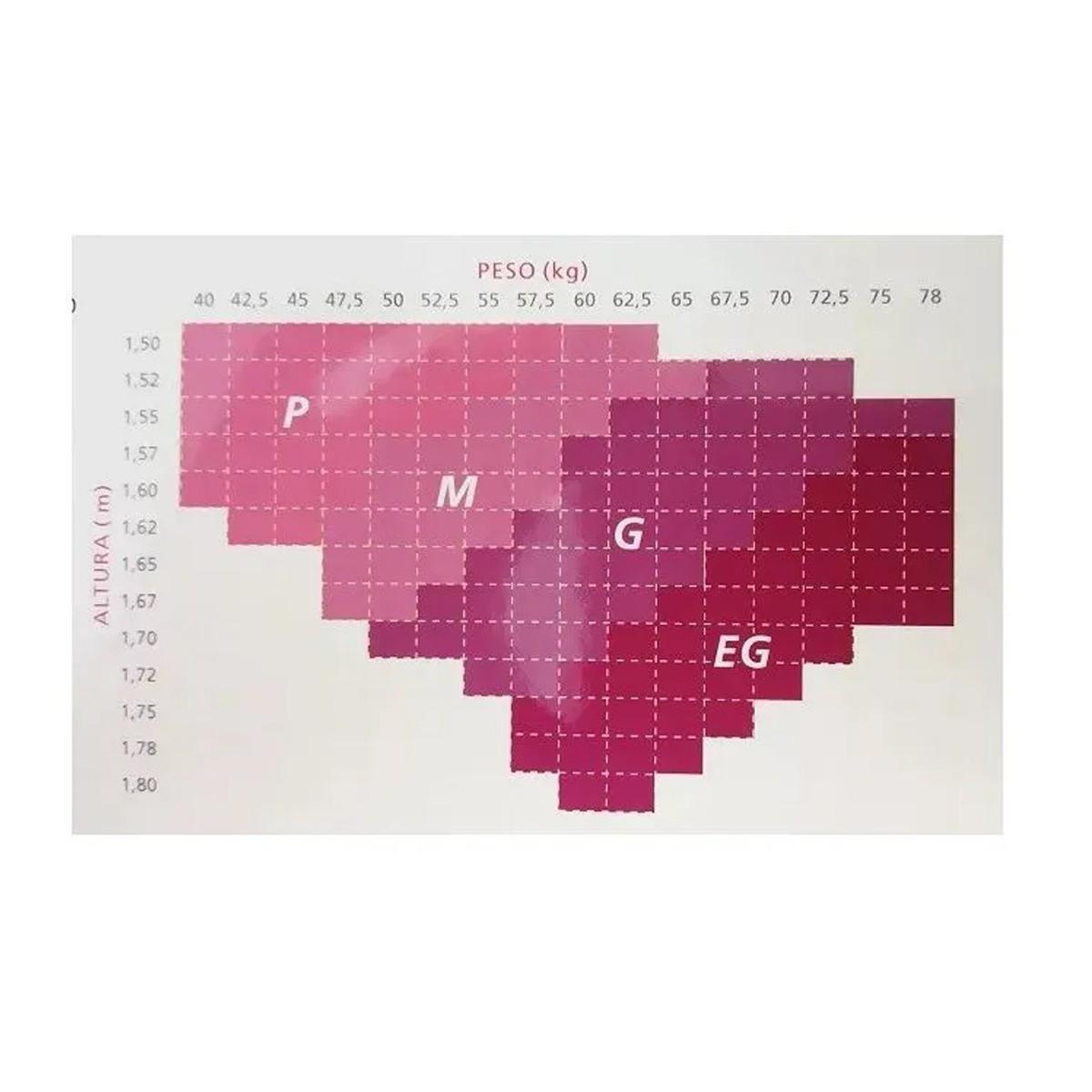 Meia Calça Feminina Loba Compressão Média 10-14 MMHG de Compressão Fio 70 Lupo - 59100
