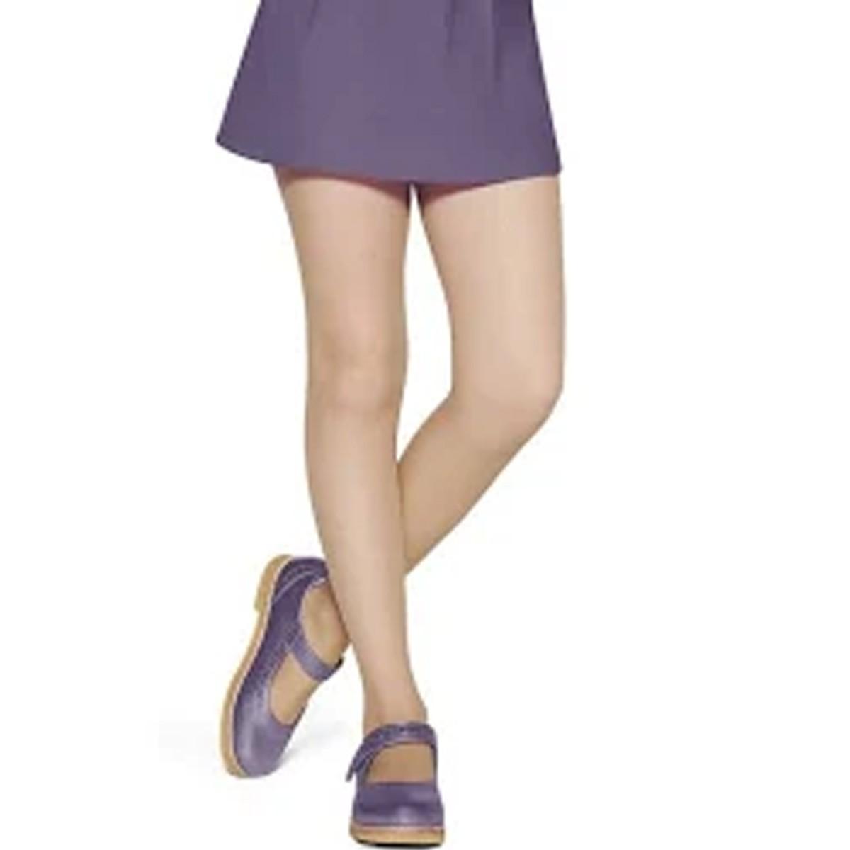 Meia Calça Fina Lisa Infantil Fio 20 Lobinha Lupo Delicada - 2570