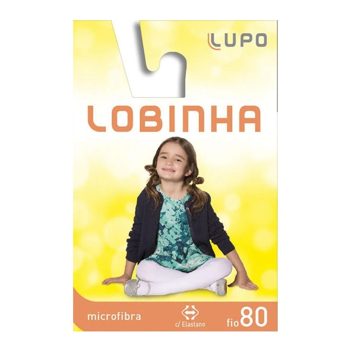 Meia Calça Lobinha Lupo Microfibra Fio 80 Opaca Infantil Menina Preta Branca Rosa - 2576