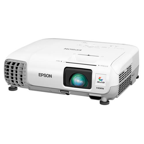 Projetor Epson PowerLite X17 - 3LCD, Lumens 2700, Contraste 10.000, HDMI, USB, VGA, Wireless Ready, Alto falantes incorporados