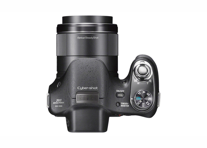 Câmera Digital Sony DSC H400 +SD 16GB - 20.1MP, Sensor CMOS, Zoom Óptico 63x, Estabilizador Óptico, Vídeo HD, Visor Eletrônico, Modo Panorâma, Tela de 3´