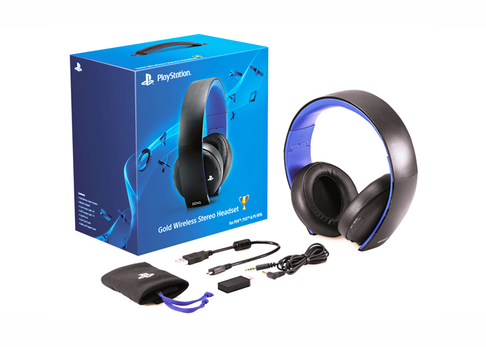 Headset PlayStation Gold 7.1 Wireless - Sony PS4, PS3, PS Vita, Computador ou dispositivos móveis *