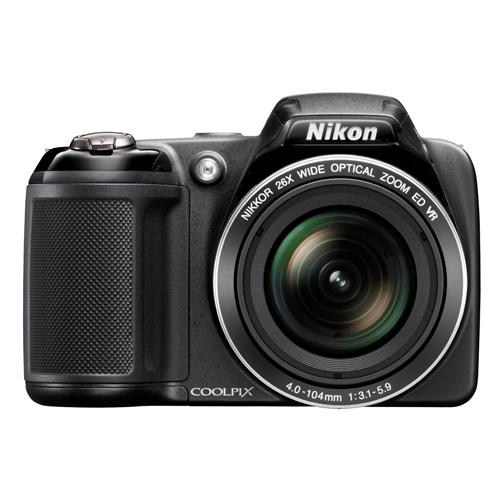 """Câmera Digital Nikon Coolpix L330 - 20,2 MP, Sensor CCD, Zoom Óptico 26x, Vídeo HD, Estabilizador VR da Lente, Tela de 3"""""""