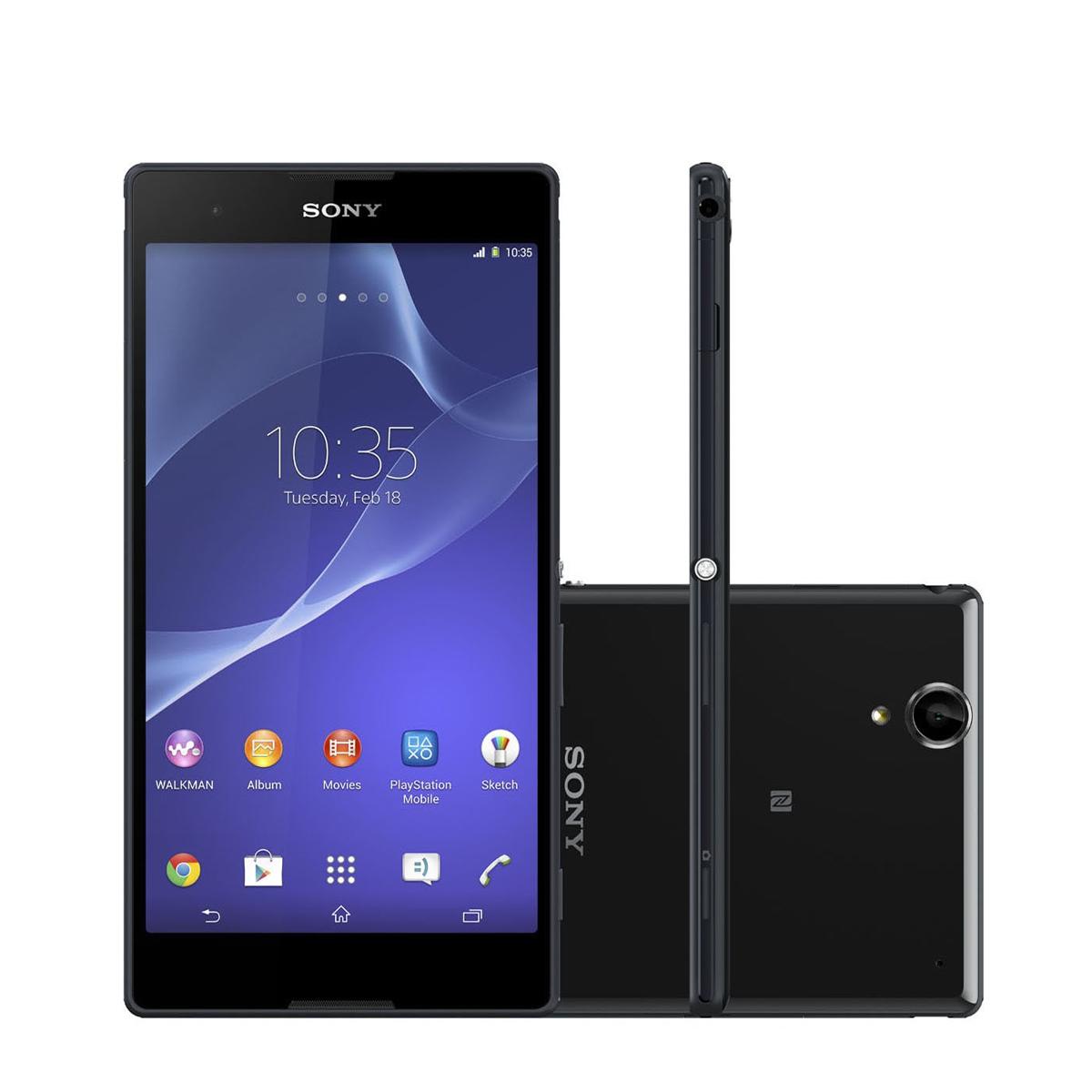 Celular Sony XPERIA T2 Ultra Dual - 8 GB, 3G, Android 4.4, Câmera de 12.1 MP, Zoom Digital 16x, NFC, GPS, Dual Chip, Quad Core 1.4Ghz - Desbloqueado ANATEL