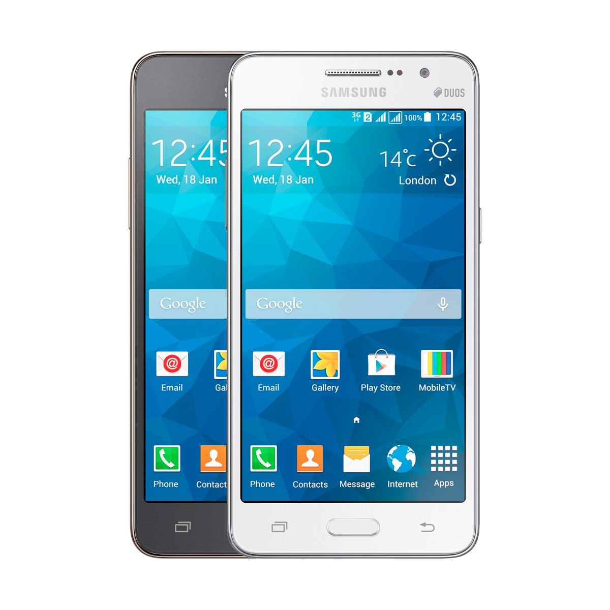 Celular Samsung Galaxy Grand Prime Duos TV - Camera Frontal 5MP, Android 4.4, 3G, 8GB, Quad Core 1.2Ghz, Dual Chip, TV Digital, Desbloqueado ANATEL
