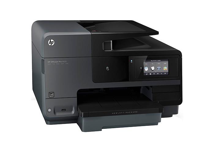 Impressora Multifuncional HP Officejet Pro 8620 - Jato de Tinta, 128 MB, ePrint, AirPrint, Leitor de Cartões, Copiadora, Scanner.
